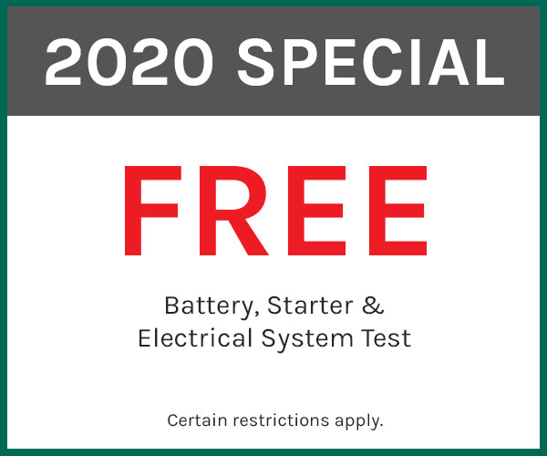 battery, starter and electrical system check coupon